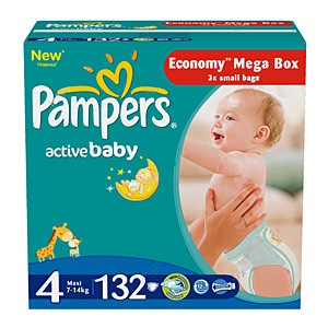 Pampers Active Baby подгузники (7-14кг), 132 шт.