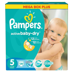 Pampers Active Baby подгузники (11-18 кг), 126 шт.