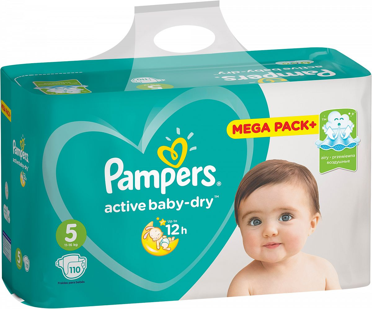Pampers Active Baby подгузники (11-16 кг), 110 шт.