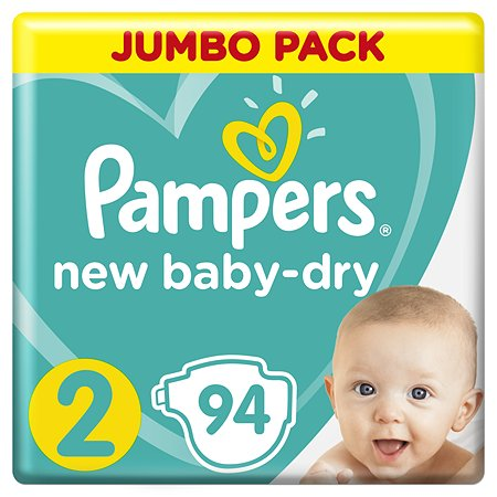 Pampers New Baby подгузники №2 (4-8 кг), 94 шт.