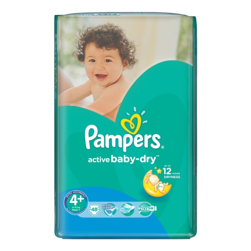 Pampers Active Baby подгузники (9-16 кг), 62 шт.