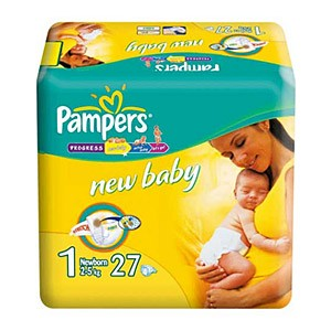 Pampers New Baby подгузники №1 (2-5 кг), 27 шт.