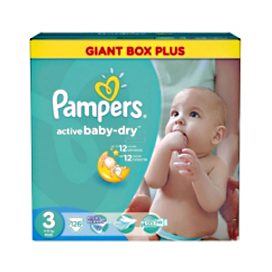 Pampers Active Baby подгузники (5-9 кг), 126 шт.