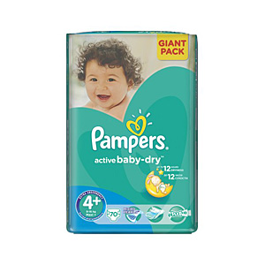 Pampers Active Baby подгузники (9-16 кг), 70 шт,