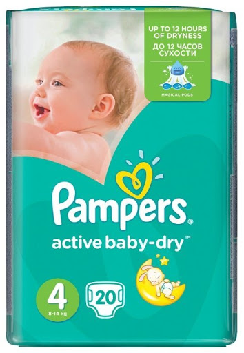Pampers Active Baby подгузники (7-14 кг), 20 шт.