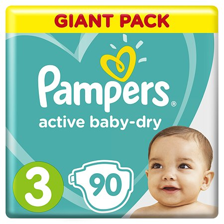 Pampers Active Baby подгузники (6-10 кг), 90 шт.