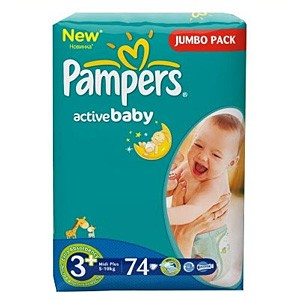 Pampers Active Baby подгузники (5-10 кг), 74 шт.