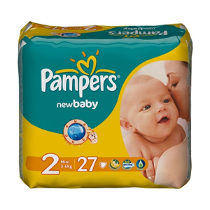 Pampers New Baby подгузники №2 (3-6 кг), 27 шт.