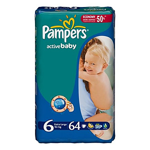 Pampers Active Baby подгузники (15+кг), 64 шт.